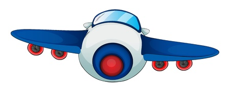 fly cartoon: illustration of a aircraft on a white background