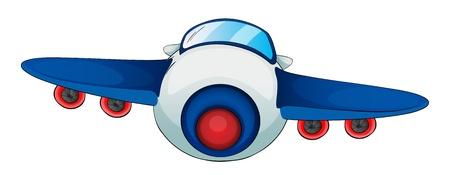 mosca caricatura: ilustración de una aeronave sobre un fondo blanco