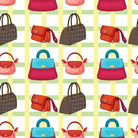 coin purses: illustration of set of various bags and purses