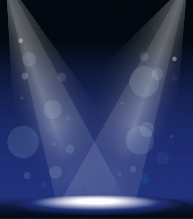 stage lights: illustration of a spot lights on stage