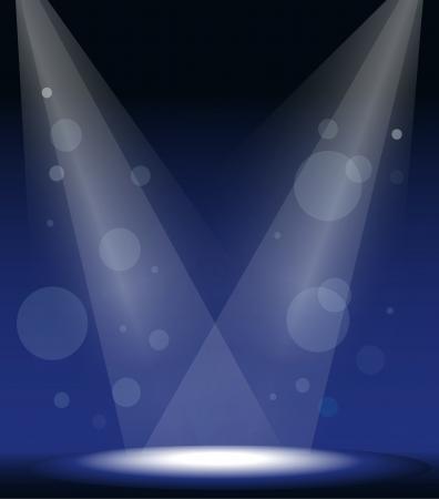 spotlights: ilustraci�n de una focos en el escenario Vectores