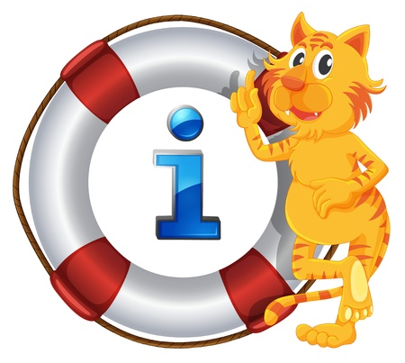 floater: illustration of tiger showing a float a white background
