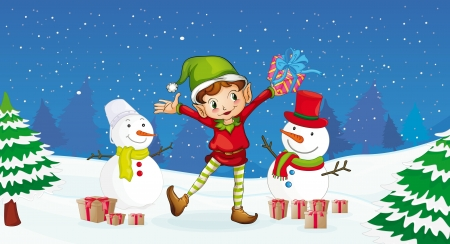 illustration of a boy celebrating christmas festival Stock Vector - 14116113