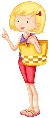 illustratie van een meisje op een witte achtergrond Vector Illustratie