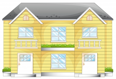 large house: illustration of a house on a white background