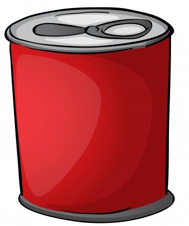 Illustration der roten Dose auf weißem Hintergrund