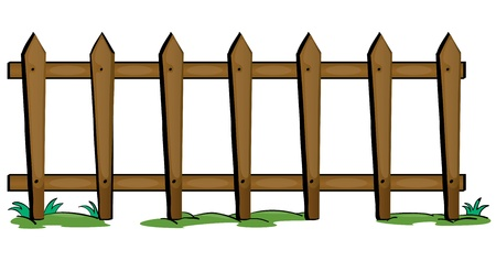 compound: illustration of fencing on a white background Illustration