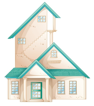 illustration of a house on a white background Stock Vector - 14132427