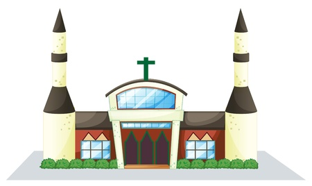 bless: illustration of a house on a white background