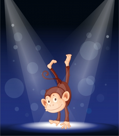 illustration of a monkey on stage Stock Vector - 14253842