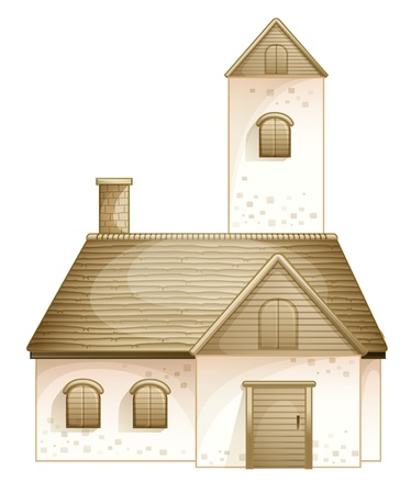 illustration of a house on a white background Stock Vector - 14253818