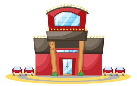 car garden: illustration of a house on a white background