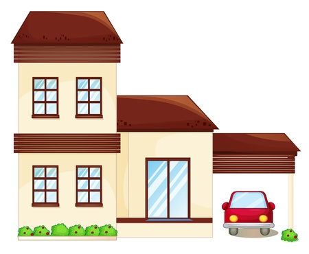 building bricks: illustration of a house on a white background