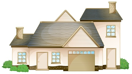 single story: illustration of a house on a white background