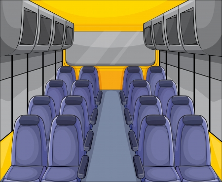 view from the plane: illustration of vehical seat arrangementand inside view Illustration