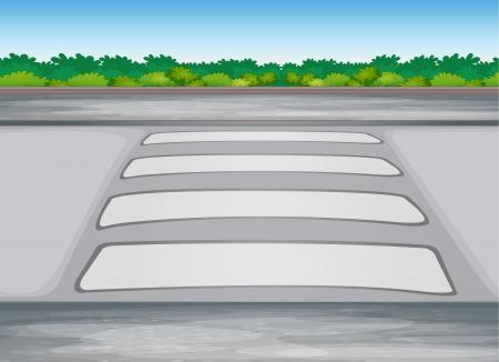 illustratie van zebra crssing op een weg