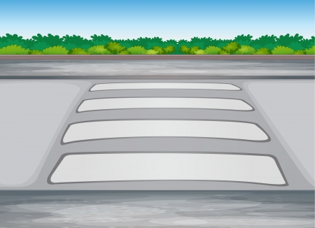illustration of zebra crssing on a road Vector