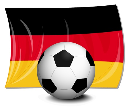 illustration of flag of germany and football Vector