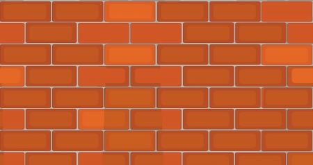 illustration of brick wall on a white background Stock Vector - 14347109