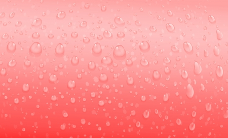 aqueous: illustration of water drops on a red background Illustration