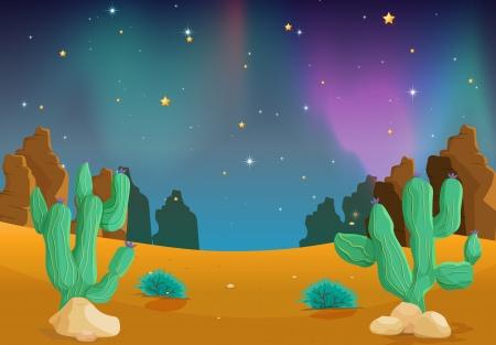 illustration of a desert in the dark night Stock Vector - 14347233