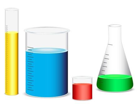 zylinder: Illustration der Glasapparatur auf wei�em Hintergrund