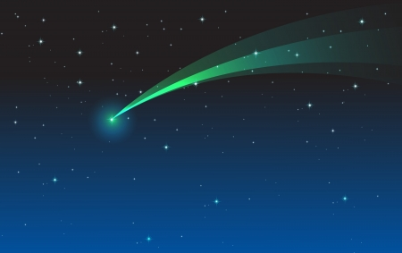 illustration of comet in the night sky Vector
