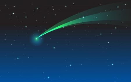 lightbeam: illustration of comet in the night sky