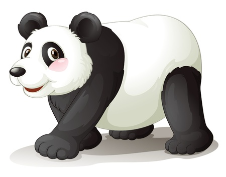 one panda: illustration of panda on a white background