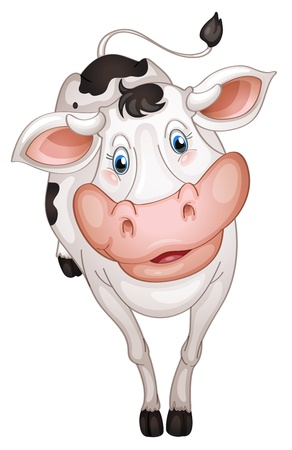 illustration of a cow in a white background Stock Vector - 14411807