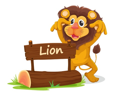 illustration of lion on a white background