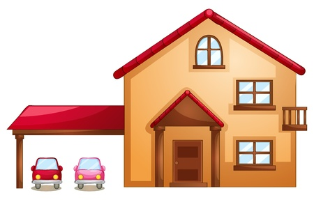 illustration of building on a white background Stock Vector - 14489512