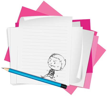 illustration of white papers on a white background Stock Vector - 14489537