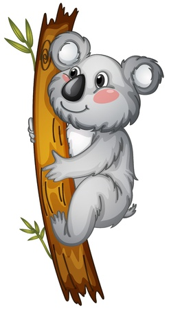 illustration of a white bear on a white background Vector