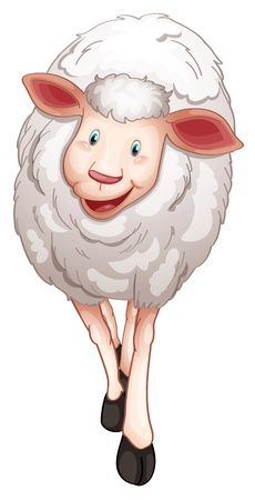 illustration of a sheep on a white background