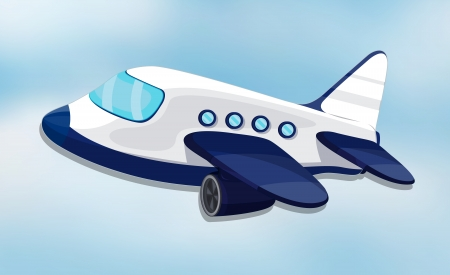 illustration of air plane on a white background Vector