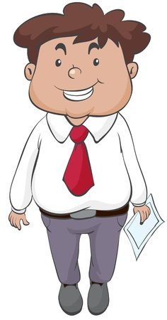 guy standing: illustration of a man on a white background
