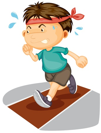 illustration of a boy running on a white background Stock Vector - 14764516