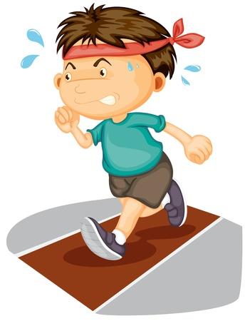 illustratie van een jongen die op witte achtergrond