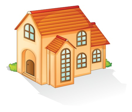 two storey: illustration of a house on a whitte background
