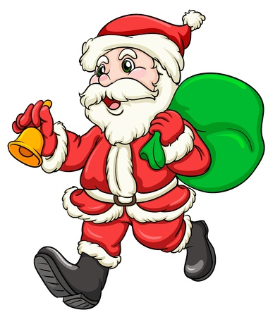 cartoon santa: illustration of a santaclause on a white background