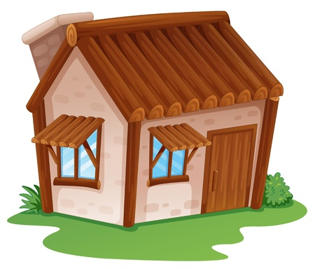 illustration of a house on a white background Vector