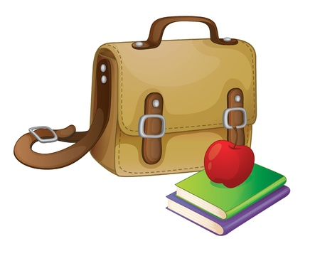 illustration of a school bag on a white Vector