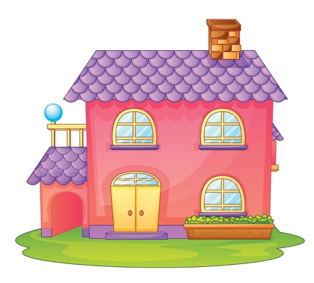 hotel stay: illustration of a house on a white background