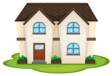 home protection: illustration of a house on a white background