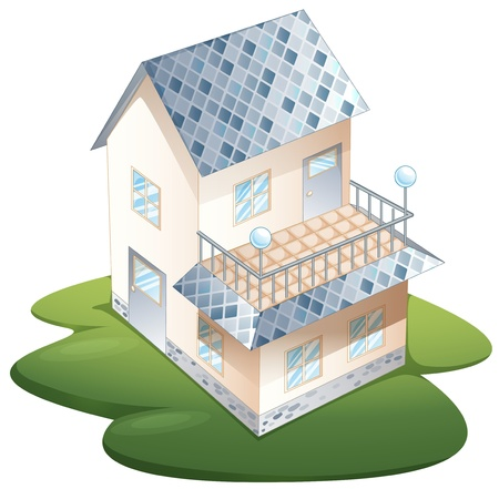 illustrazione di una casa su uno sfondo bianco