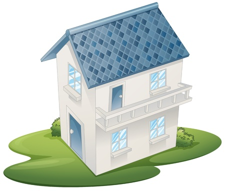 luxury homes: illustration of a house on a white background