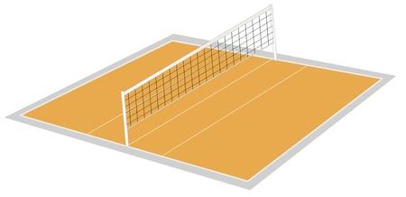 ballon volley: illustration de terrain de volley-ball sur un fond blanc Illustration