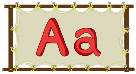 Letter of the alphabet on canvas Stock Vector - 14871936