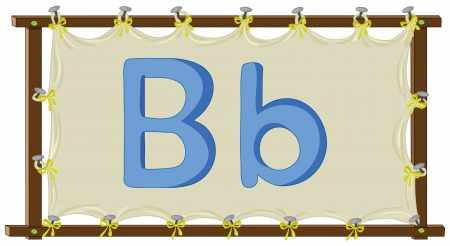 Letter of the alphabet on canvas Vector